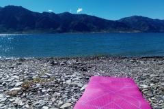 .... Ideální den? Po ránu jóga, pak plavání s výhledem na okolní hory, odpoledne výšlap na vyhlídku a nakonec zase koupání :)